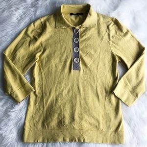 Boden • Yellow Long Sleeve  Polo